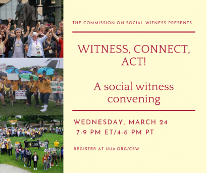 Witness, Connect, Act! - A social witness convening