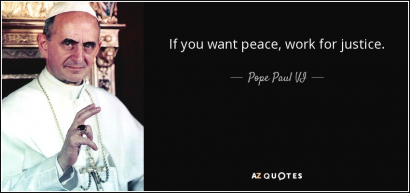 """Sunday Service: """"Working for Peace Means Working for Social Justice"""""""